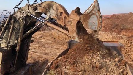 矿山上来了正铲挖掘机,这效率第一的名头就是它了!