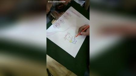 教小朋友画手抄报! 超级简单易学!