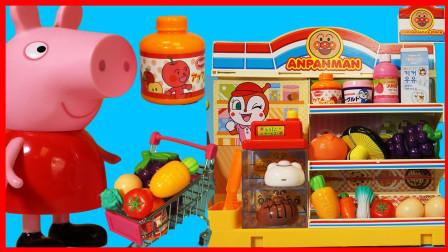 北美玩具 第一季 小猪佩奇佩佩猪在面包超人便利店购物玩具故事