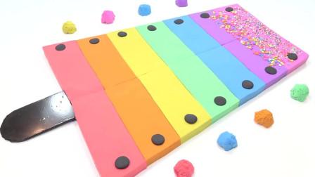 萝卜玩具宝宝 太空沙制作彩色钢琴冰淇淋