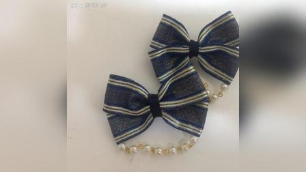 lolita边夹基础款教程 这里强调一下, 就算你的缎带不粘双面胶