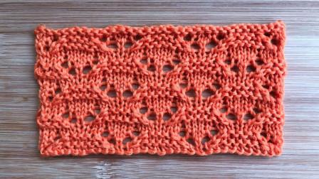 简洁大方的镂空花样,织法简单,织春夏针织衫很不错手工织毛线花样