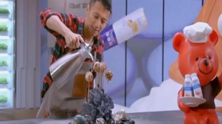 锋味2018:谢霆锋自制油炸冰淇淋简直是艺术,竟可以这么炸太酷了!