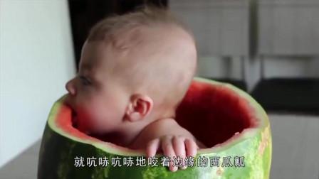 爸爸带娃的下场, 把宝宝放进西瓜里, 自己可以玩一天