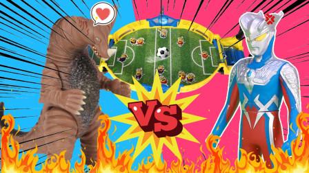 奥特曼小怪兽桌面足球大对决