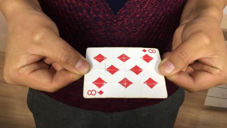 手不松开纸牌,如何才能让扑克牌翻面?学会骗朋友玩玩