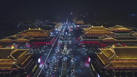 西安|航拍大唐不夜城,流光溢彩再现大唐盛世