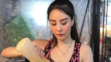 抖音网红:泰国水果冰美女店主,你们觉得是男还是女的