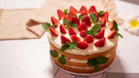 成本不超100块, 教你做两个8寸的草莓蛋糕