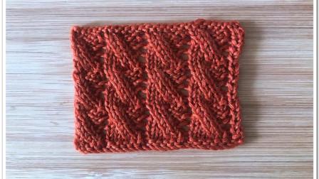 绞花花样新织法,简单好织,立体有层次,很帅气的外套花样创意编织