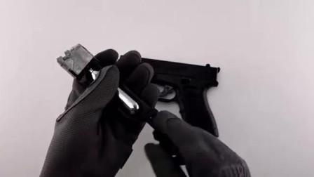 气动版ISSC M22型手枪,BB弹供弹射击实测