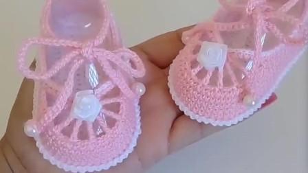 「母嬰針織」簡易的寶寶鞋子編織 寶寶鞋子編織視頻 生活視頻在線播放