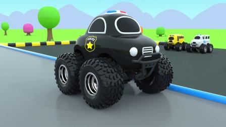 彩色小汽车工程车玩具