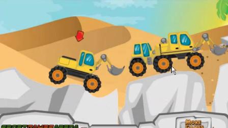 靠表演前空翻取胜的铲车还是老实点吧!沙漠大铲车游戏