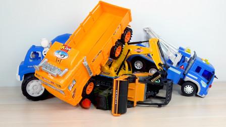搅拌车警车挖掘机卡车工程车玩具车模型