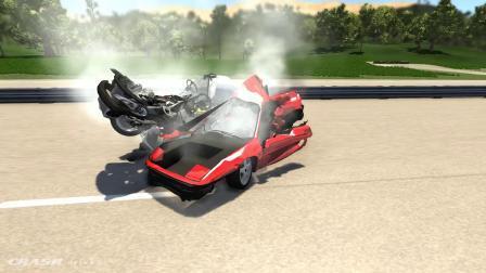 BeamNG模拟汽车碰撞摧毁