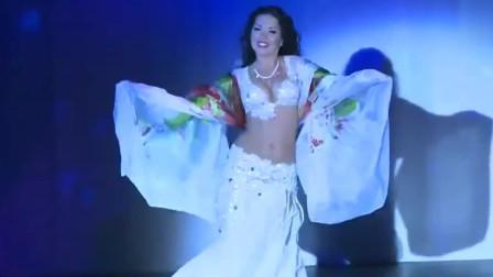 肚皮舞:女神的纱巾肚皮舞,好似仙女下凡一样