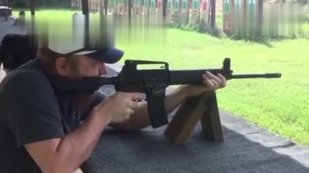 自动步枪点射与连射,慢动作细节展示
