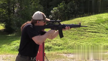 HK G41式5.56mm自动步枪,结实可靠 使用寿命达到20000发以上!
