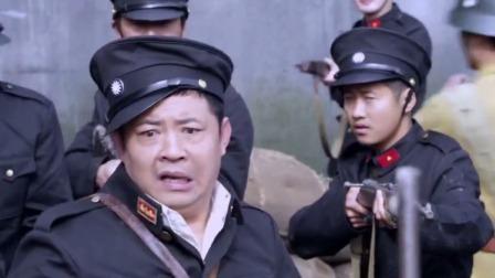 保安队敢阻拦军车进城,队长嚣张坏了,军官一个动作吓得他站不稳