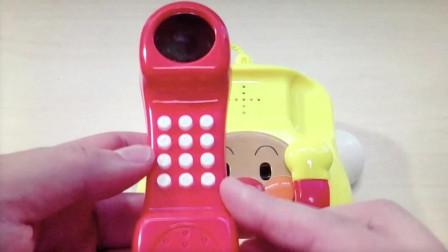 【Happy face】【Children】面包超人  面包仿真电话机玩具   面包智力玩具
