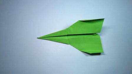 手工折纸,简单还能飞很远的纸飞机折法,小朋友超喜欢