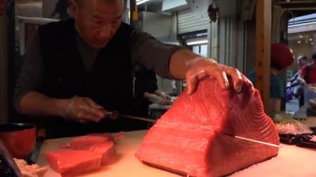 日本贵族专享生鲜!产自深海肉质Q弹,看这切片方式就不同凡响!