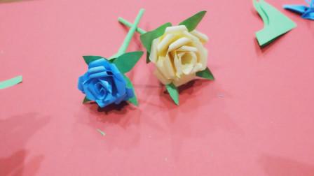儿童手工制作 折纸视频教程 漂亮的玫瑰花