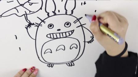 小Y简笔画教程:小姐姐教你画可爱动漫人物,龙猫这么可爱一定要学会呀