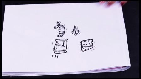 小果简笔画教程:教你几笔就可以画出奶酪和冰淇淋,快来和小果一起画吧!