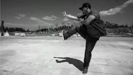传统八极劈山演练,仇宝龙八极拳动作演练