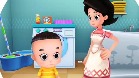 宝宝当家洗衣机的使用方法及危险性,大头儿子小头爸爸!游戏