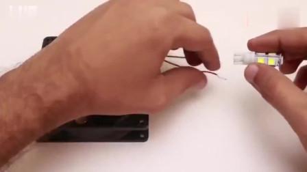 用电脑CPU风扇制作磁力发电机,免费轻松点亮led照明灯泡