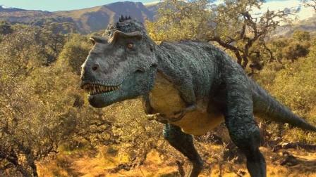 侏儒暴龙实在残酷,他们集群行动,捕杀厚鼻龙种群