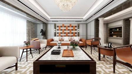 130平米法式风新房,客餐厅太漂亮了,墙很有个性!