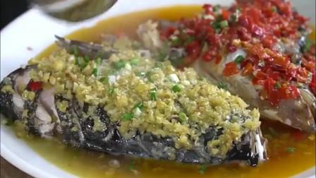厨师长做的双椒蒸鱼头,隔着屏幕都有胃口,你能多吃几碗饭