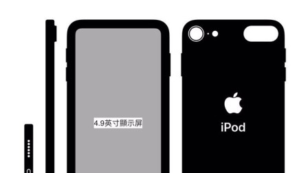 iPod Touch 7 工程设计图现身:神似无刘海版XR后置单摄A11加持