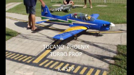 凤凰模型巨嘴鸟搭配KingTech K45TP涡轴发动机飞行影片