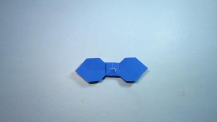 手工折纸,简单漂亮的蝴蝶结折法,一学就会