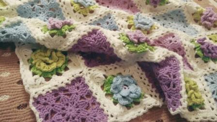 【金贝贝手工坊 259辑】M161十二月花毯(7月绣球花)毛线钩针编织钩花毯子视频教程