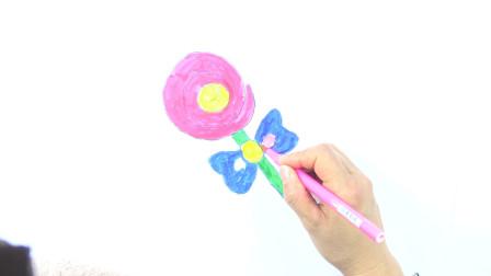 怎么画棒棒糖 儿童绘画 学习儿童色彩 儿童简笔画 填色