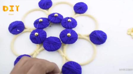 「DIY家居系列」毛线挂帘的制作方法,手工难度2颗星!