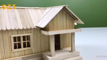 「玩具模型系列」迷你小木屋的制作方法,手工难度2颗星!