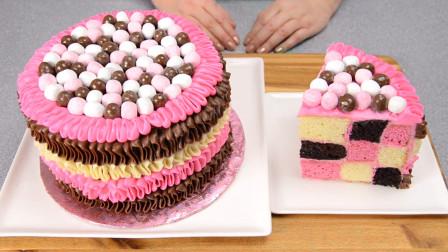 少女心满满的糖果巧克力生日蛋糕,学会它圆了女儿的公主梦吧!
