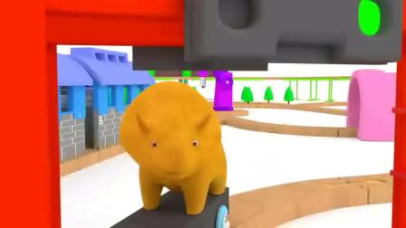 【幼儿动画】早教通,跟戴诺一起做蛋糕学习彩虹的七种颜色