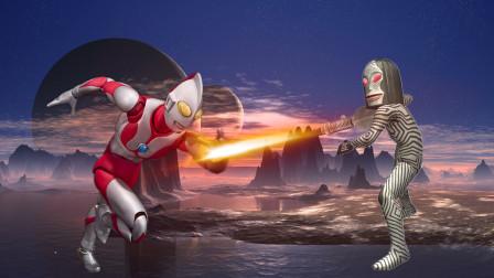 奥特曼格斗进化3,达达vs初代,怪兽达达战胜被缩小的奥特曼