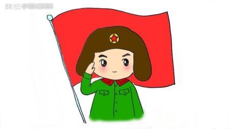 3.5学雷锋纪念日 学画简单的雷锋卡通简笔画