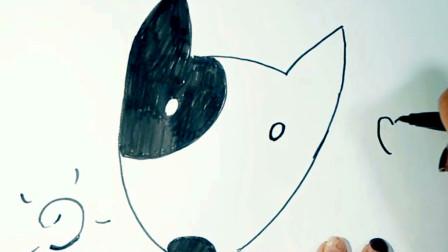 教你最简单的画出《牛头梗》,少儿绘画教学,简笔画零基础教程,轻松学会