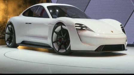 2019保时捷Mission E概念车,造型未来感十足,非常炫酷