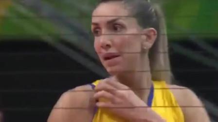 里约奥运会,中国女排决战巴西,朱婷扣球得分!